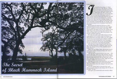 black hammock island    neighborhoods magazine  72dptbhispread the secret of black hammock island   by marcia francis  rh   marcia writersresidence